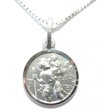 St Kristoffer medaljong i sterling silver 925 for barn